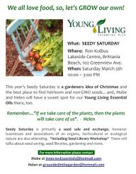 young living essential oils seedy saturday 05mar16 poster