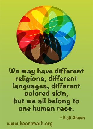 We are all different... belong to one human race