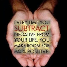 every time you subtract negative