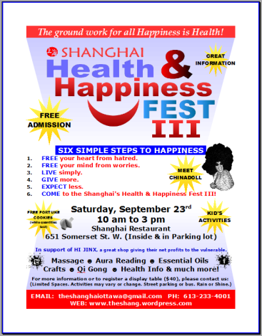 Shanghai Health & Happiness FEST 23sept17 poster