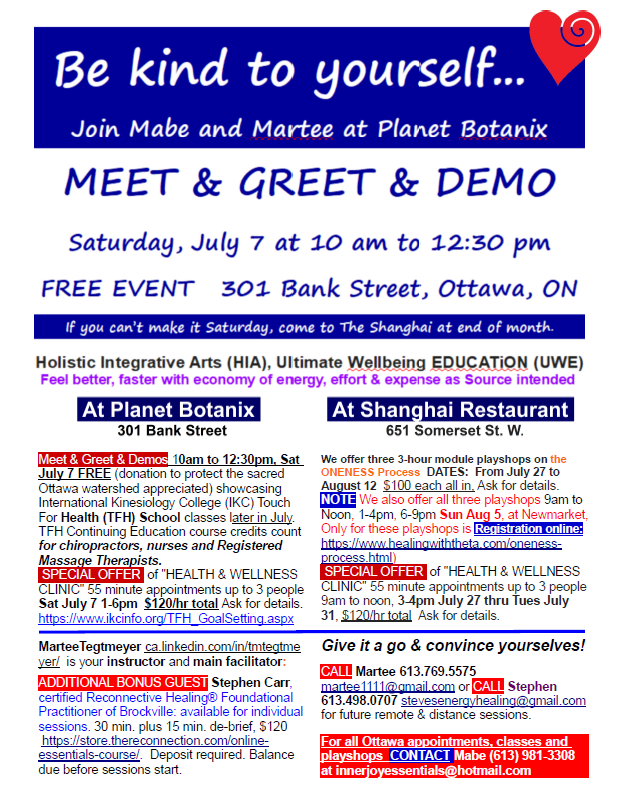 IJE and Planet Botanix Meet and Greet poster July August 2018